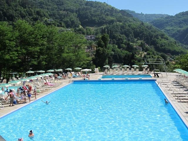 A pool with a view | Bella Bagni di Lucca