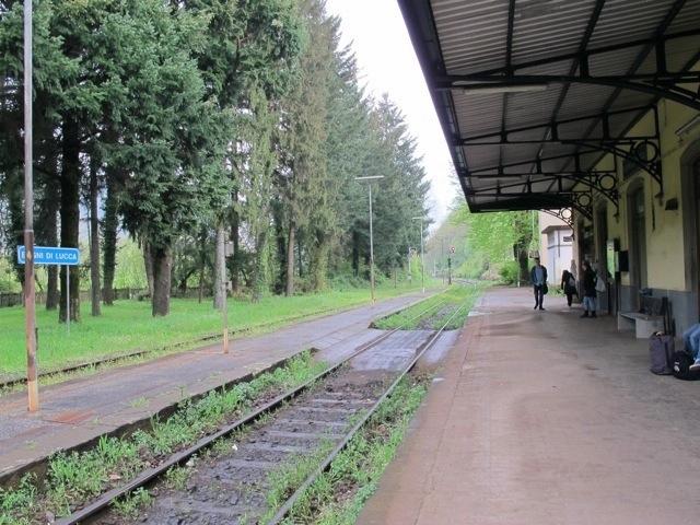 where the train comes in in bagni di lucca