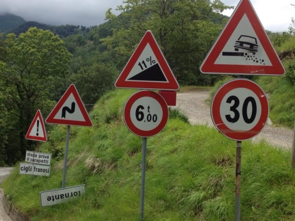 Road signs in Italy