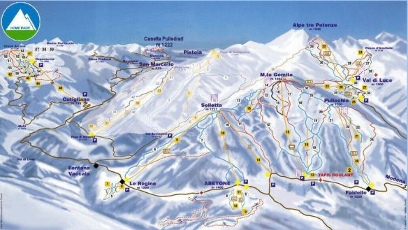6. Abetone Ski Map