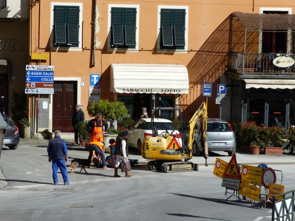 road works Ponte a Serraglio
