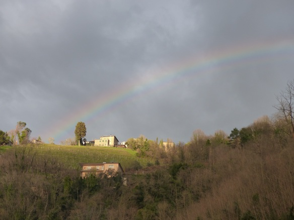rainbow over Colle
