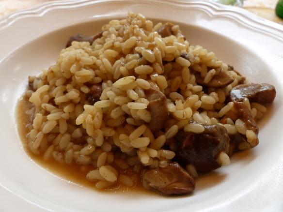 Mushroom risotto at Del Sonno