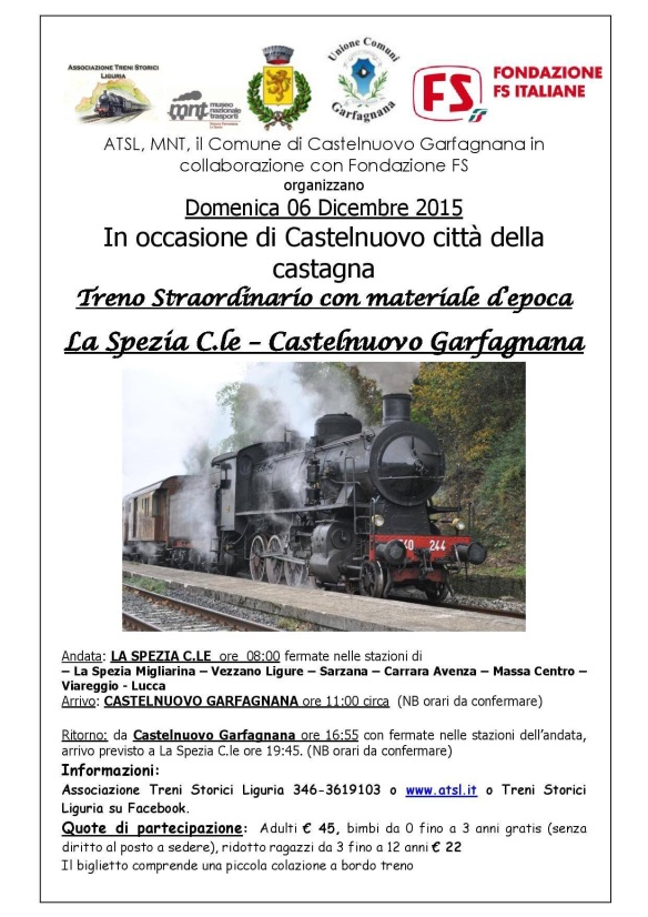 Train trip to Castelnuovo