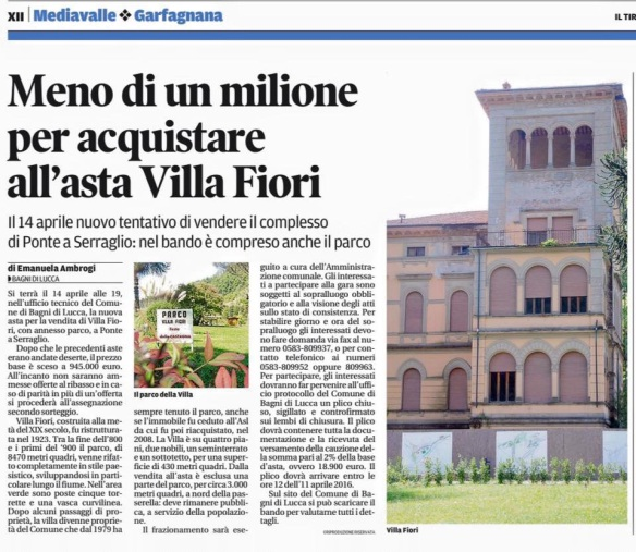 Villa Fiori for sale