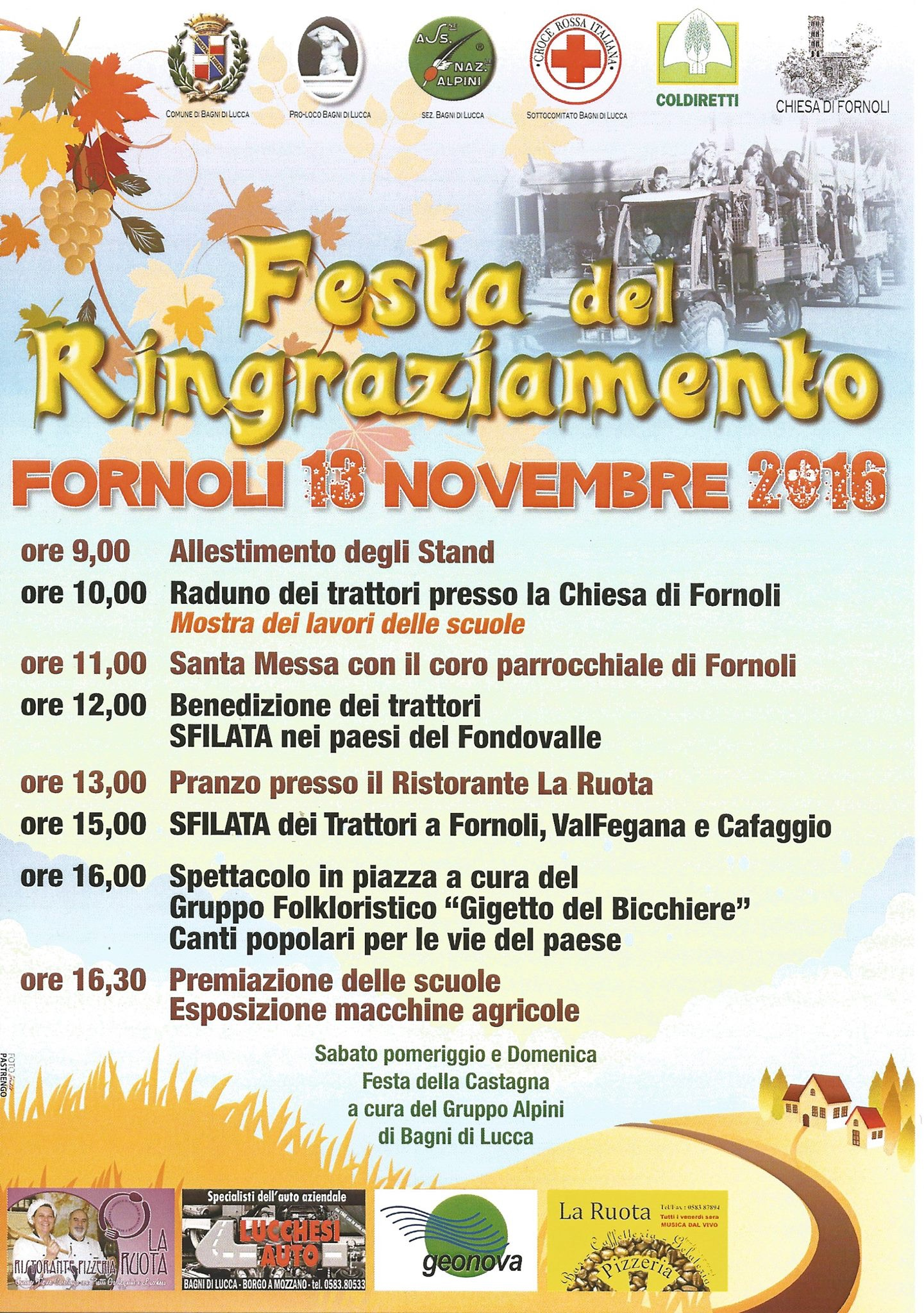 This weekend in Fornoli | Bella Bagni di Lucca
