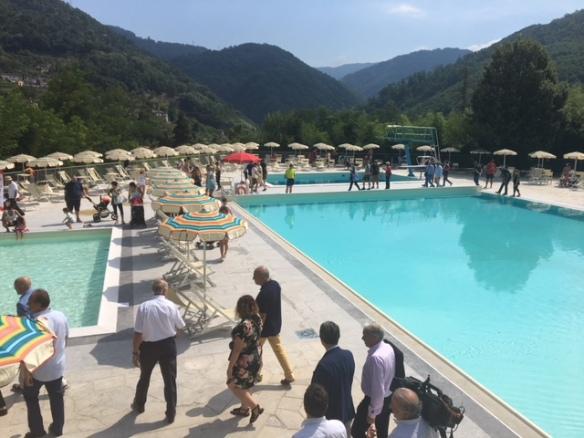 New pool Bagni di Lucca